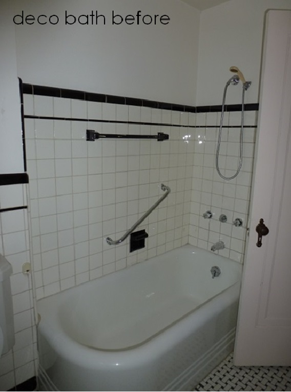 My deco bathroom in style at home before and after for Bathrooms in style
